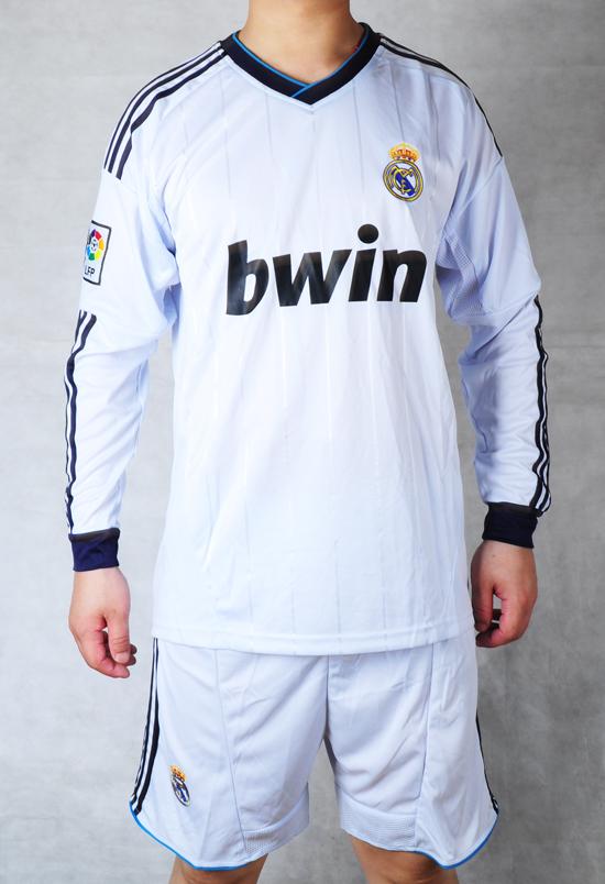 Футбольная форма JINGJISHEN 12-13 Для молодых мужчин С длинными рукавами одежды футбол Реал