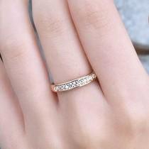 韩版个性饰品批发 时尚简约单排小钻戒指 个性尾戒 满8款包邮