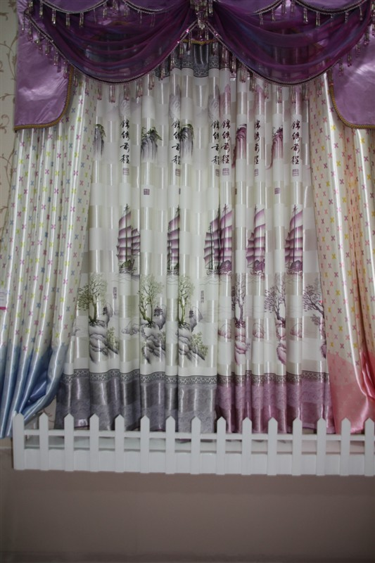 Декоративная ткань Светлое будущее китайского коротких шторы украшения окна Чанли