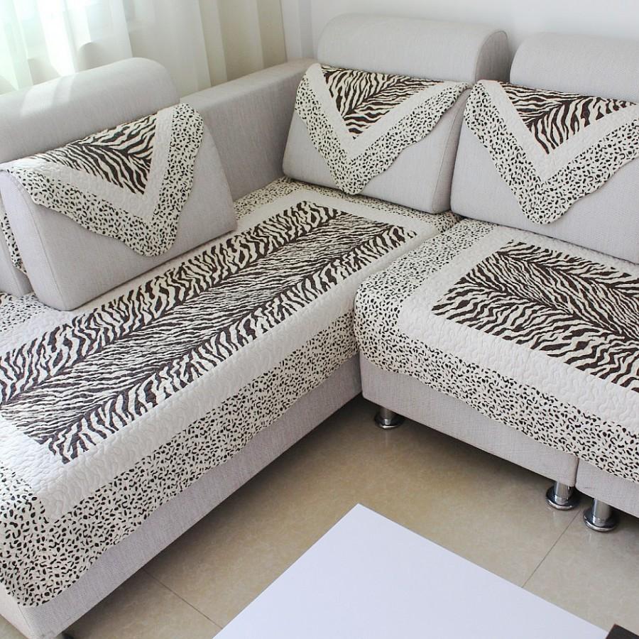 虹原歐式實木沙發墊坐墊布藝 帶靠背防滑沙發套沙發罩圖片