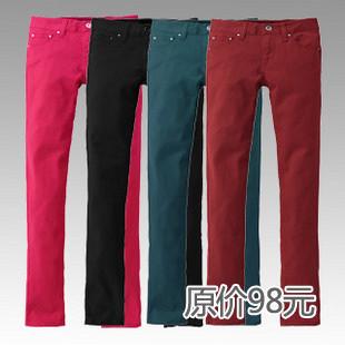 新品促销5折包邮/品牌授权[MSONNY] 秋装新款女士时尚彩色休闲裤