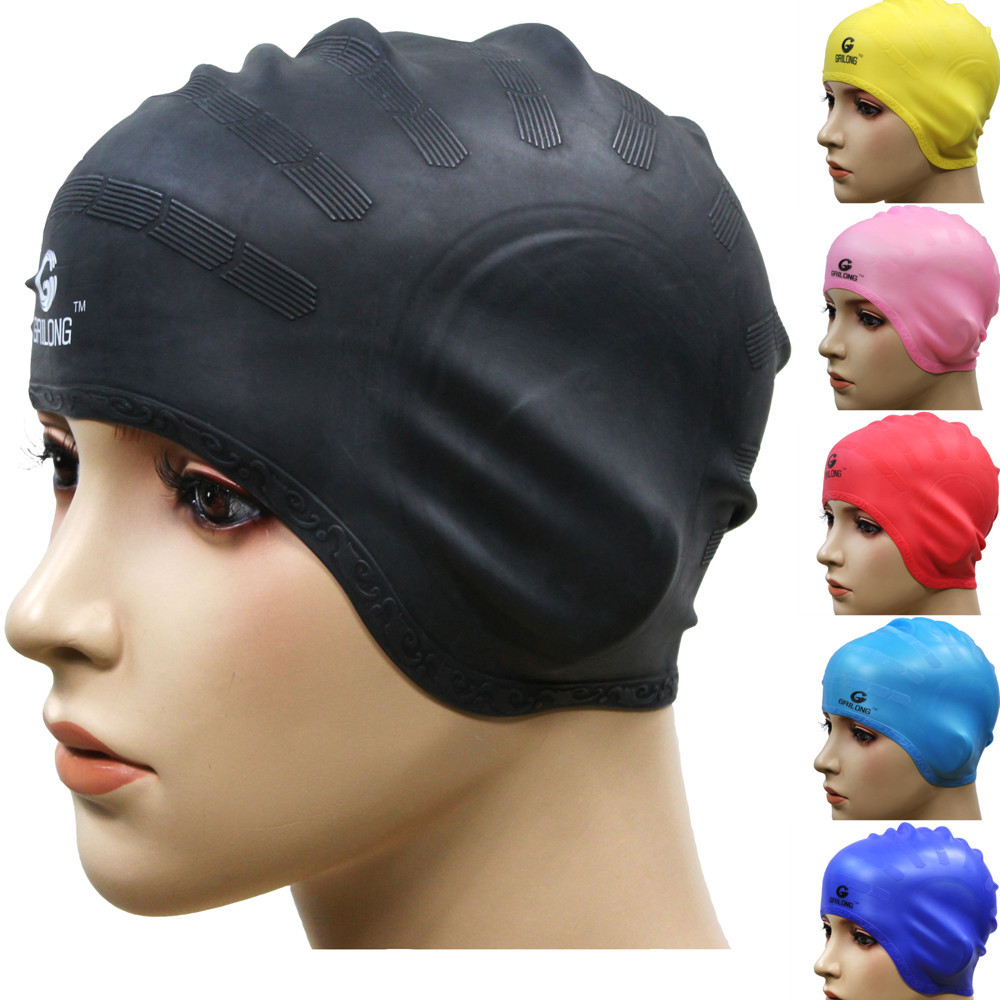Waterproof ear ear cap brand authentic Korean design long hair of men and women and children of silicone swimming cap
