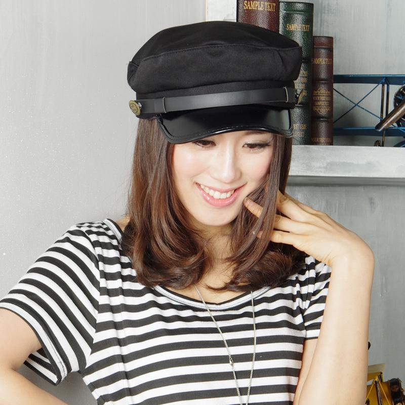 冬之花  女士帽子 夏天平顶帽潮韩版海军帽 男女通用 YF24