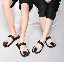 Uanmi slippers British wind bean curd slippers Men and women fashion slippers sandals couples personality