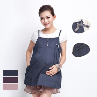 October metal apron/tape Mummy anti-radiation maternity dresses pregnant women anti-radiation suit