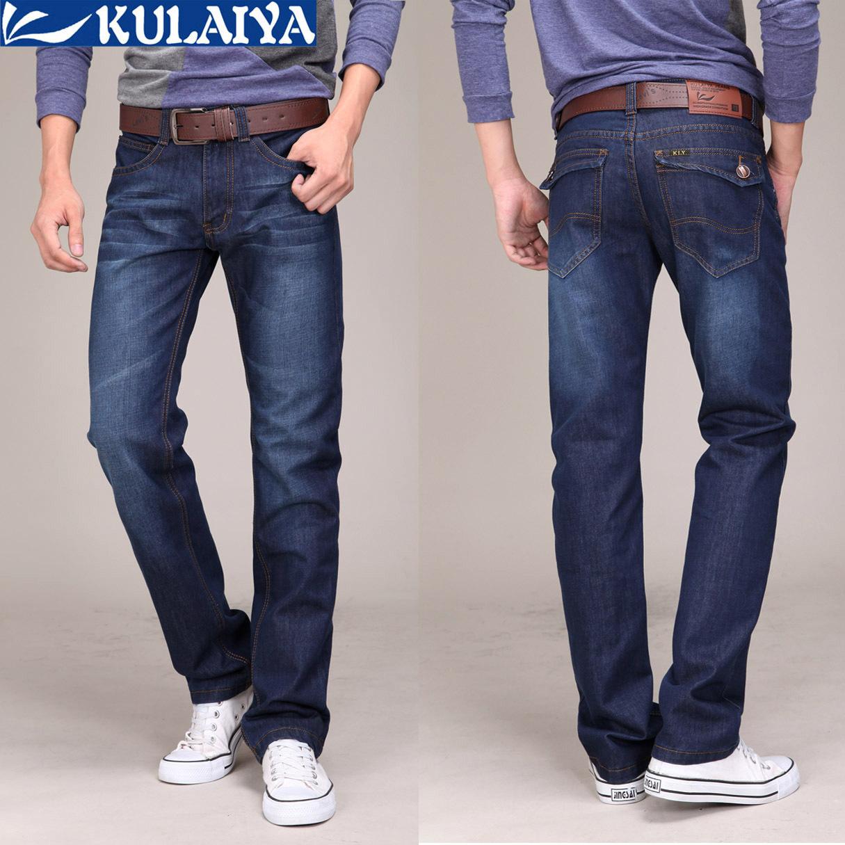 Джинсы мужские Cool L'Oreal 015 2012 Прямые брюки Классическая джинсовая ткань Повседневный стиль