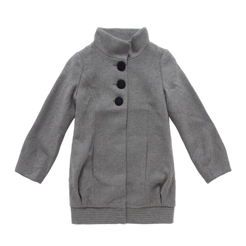 正品semir 森马 冬装新款女士呢子外套立领净色休闲外套1209541图片