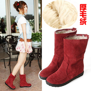 Special offer clearance crazy grab genuine  boots women short boots warm boots for posting increases in sole