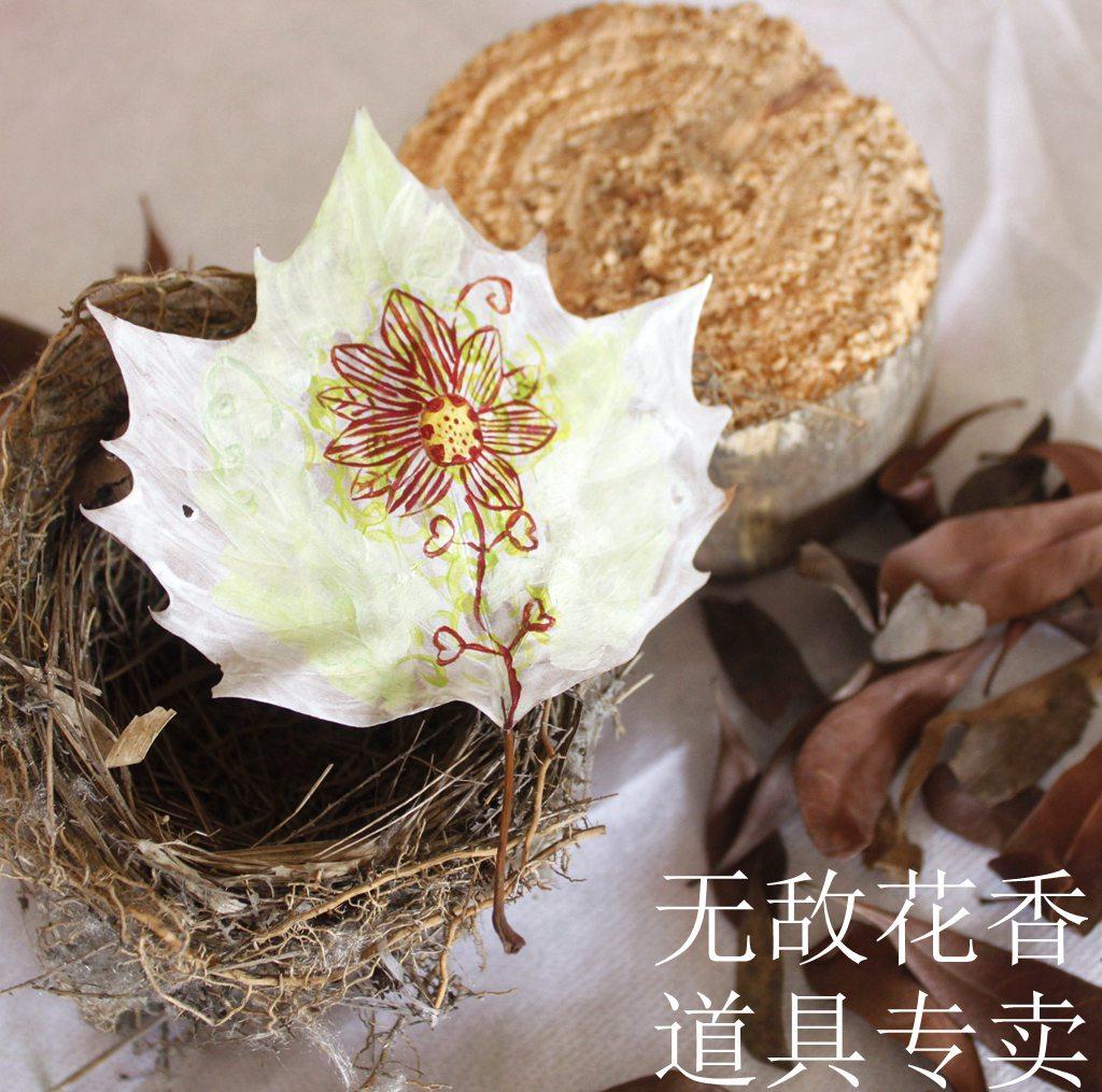 Засушенные цветы Высушенные цветки специализируется в теплой сухой листьев отображения реквизиты действительно листья чая магазин ручная роспись искусство украшения искусства