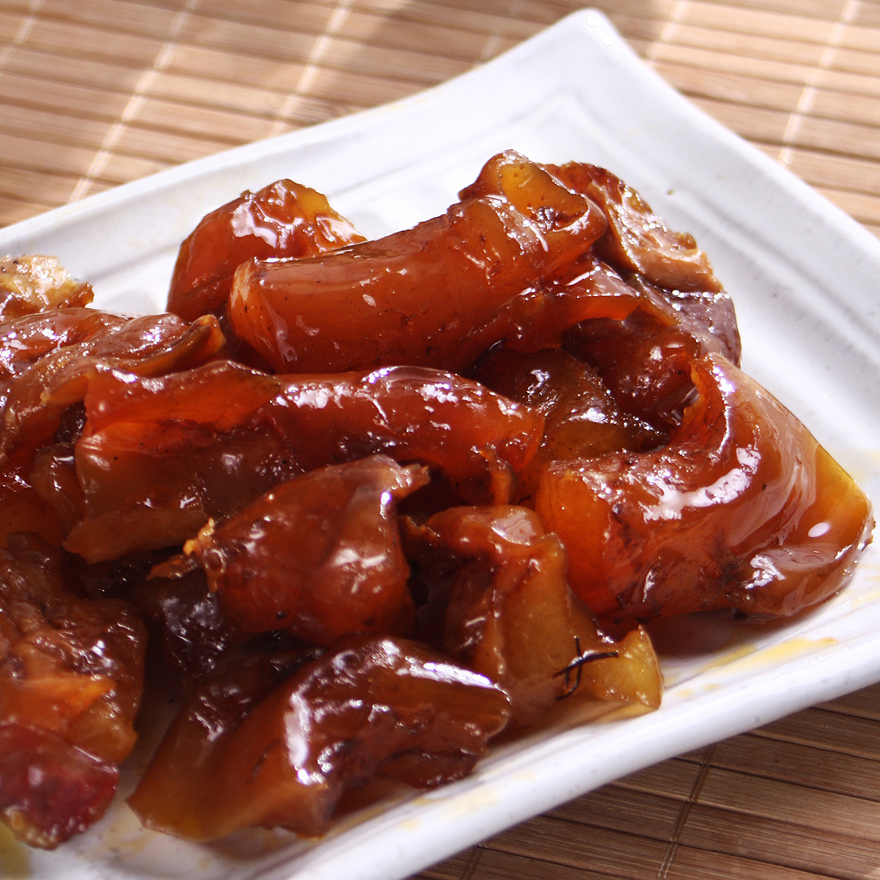 麻辣食神◆香糯q弹香辣牛宝宝蹄筋牛板筋丰富胶原直接吃牛筋菜怎样煮毛豆给私房吃图片