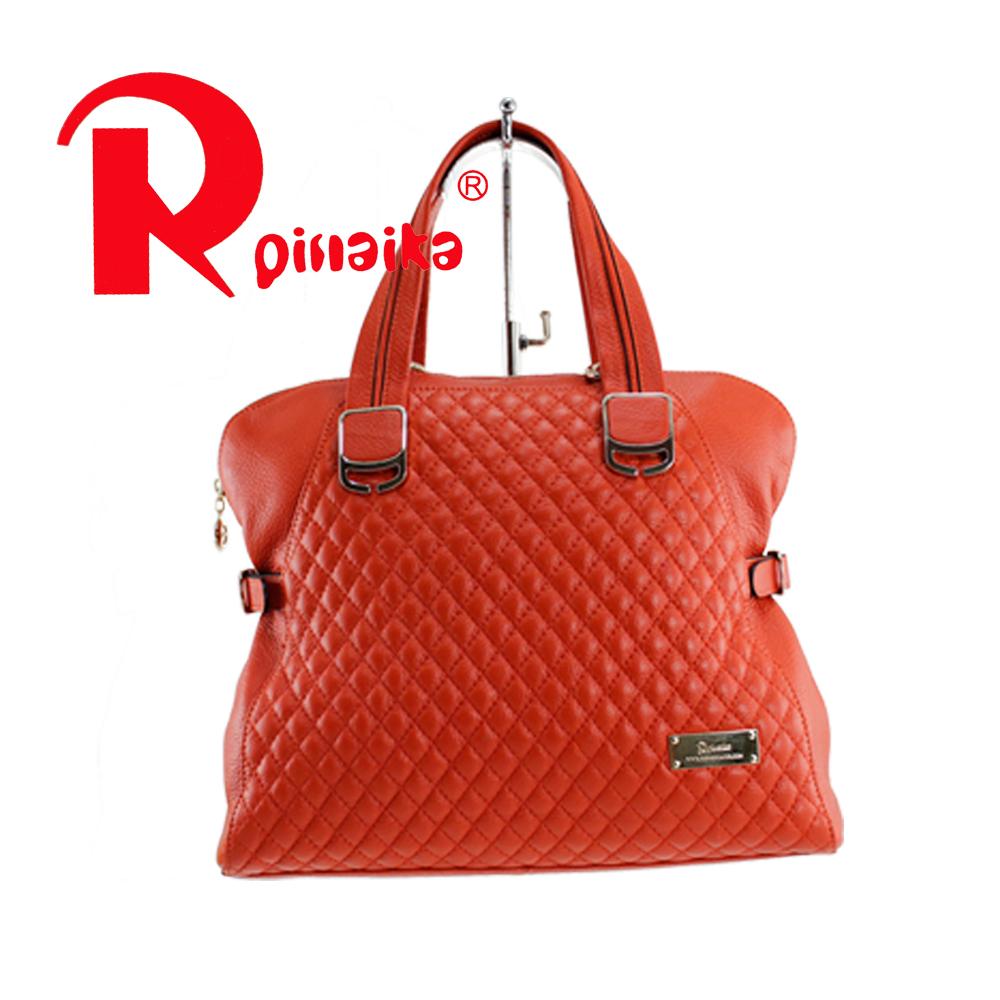 女包 皮尔卡丹 新款正品时尚 5折热卖 牛皮 手提包背包73713-01橙