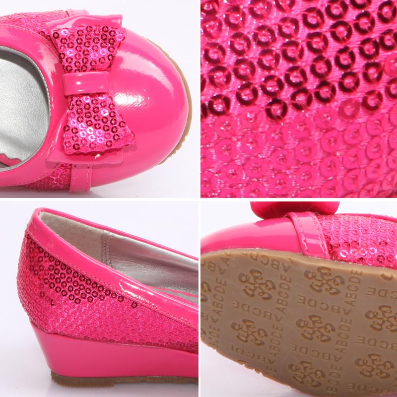 Детская кожаная обувь b1037 Sokoll Жен. Микрофибра Без шнуровки Резина С блестками