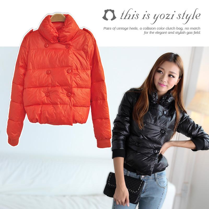 Женская утепленная куртка Grapefruit attire 2012 AC416 Прямой Длинный рукав Зима 2012