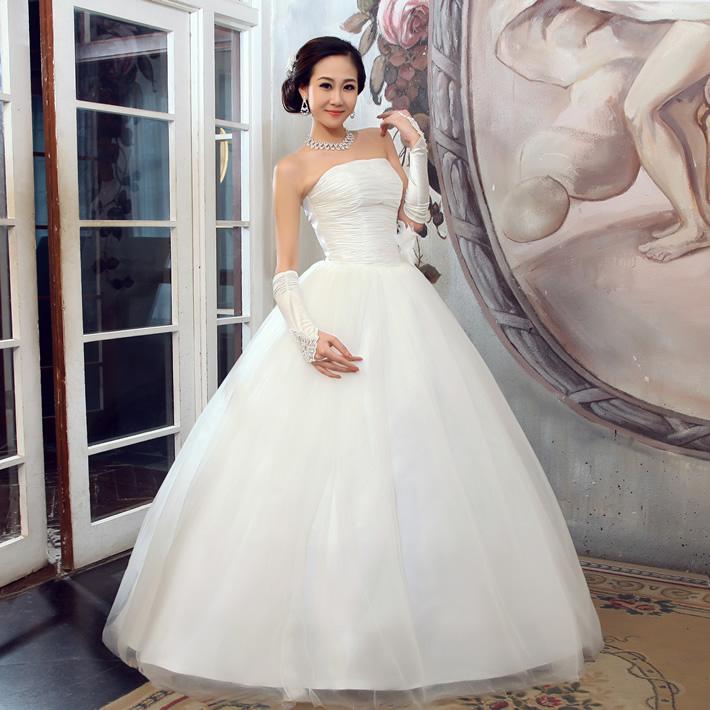 花嫁物语婚纱礼服 新款2013 公主韩版婚纱礼服韩式婚纱优雅齐地冬
