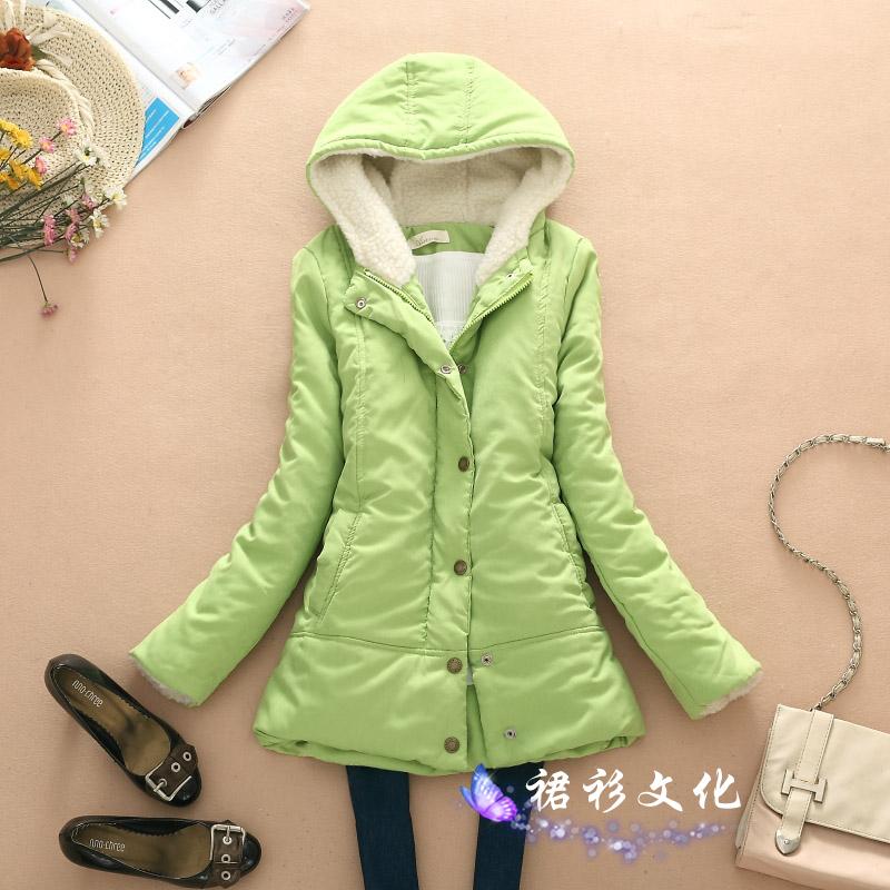 Женская утепленная куртка 2013新款女装外套中长款棉衣冬装外套女韩版加厚保暖棉衣棉袄子潮