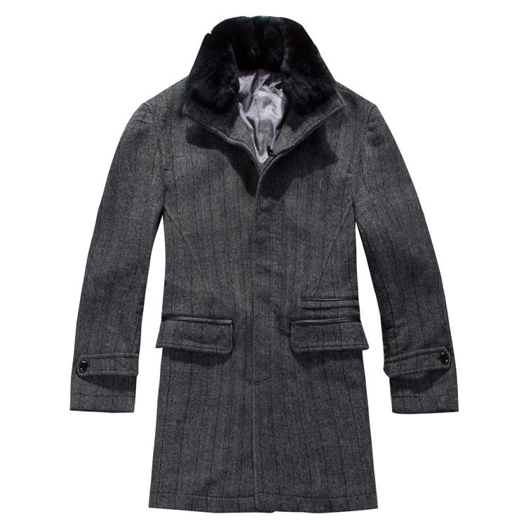 Пальто мужское HAILAN Men HOVD3C025L Шерстяная ткань для пальто Двухслойный воротник