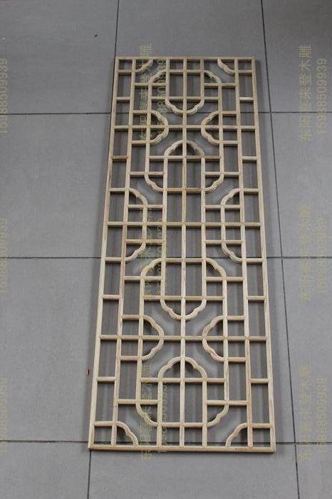 Фигурная решетка Решетчатые окна дерева источник для плиты перегородок антикварные украшения Dongyang дереву 150 * 55 входа в диван