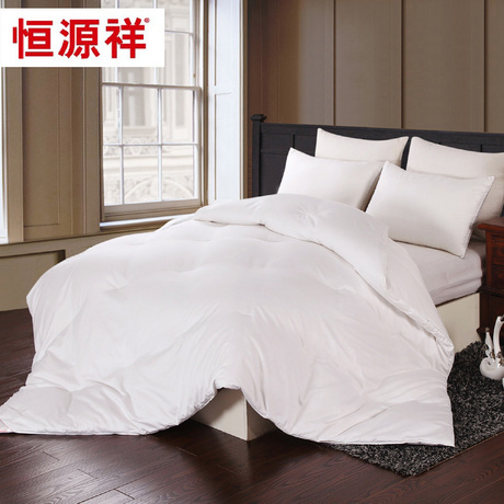 恒源祥家纺 蚕丝羽绒混合被 被芯冬被子保暖 春秋被 双人加大床品商品大图