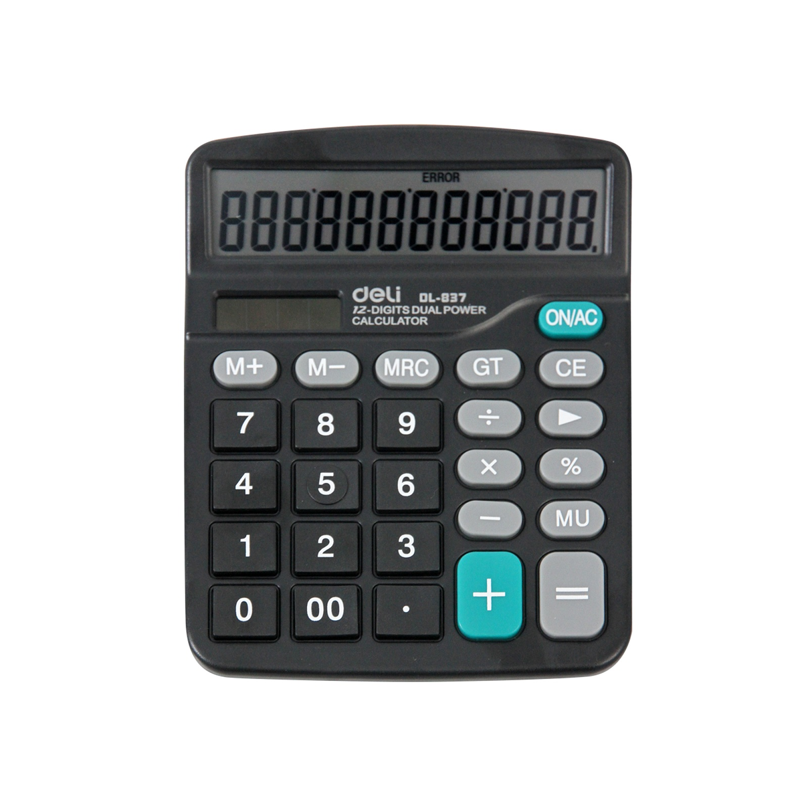 新品(deli)得力837太阳能计算器 大屏大按键计算器 办公用品