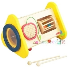 Exported to Japan multifunctional percussion Children's musical instrument combination 3 syncretic combination Hand-eye coordination