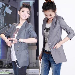 原单正版大S同款 时尚韩版修身显瘦中长款小西装/西服 外套春秋女