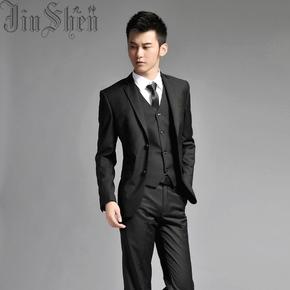 正装男士西服套装西装男修身韩版休闲商务职业装男式新郎结婚礼服