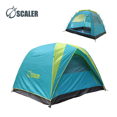 Scaler SCALER outdoor camping tent three people double glass rod scenic mountain tourism and leisure