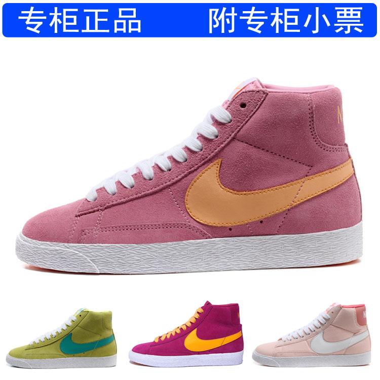 кроссовки Nike 511486/400 2012 Blazer 511486-400 Замшевые Осень 2012 Женские Нескользящая резина