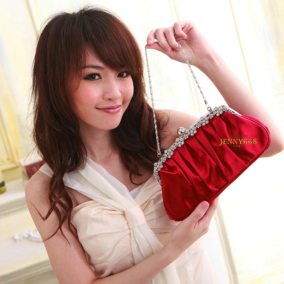2013新款女包潮钻晚宴包手拿包手包伴娘包 红色包包结婚新娘包