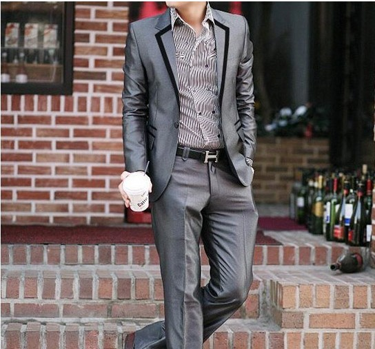 特价热销男士韩版修身西服套装休闲西装伴郎新郎结婚时尚礼服包邮