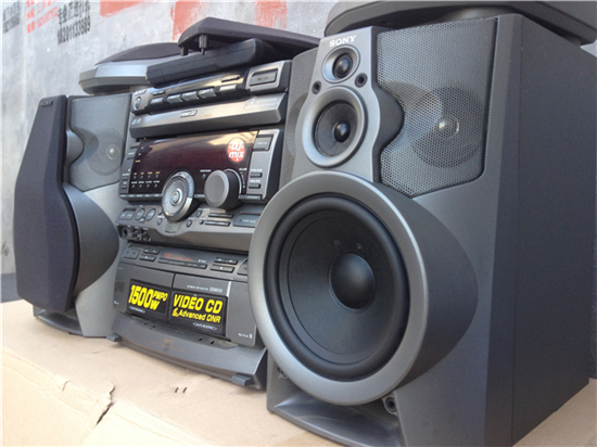 Imported Second Hand Stereo Component Systems Sony HCD V808 Bookshelf Speakers Original Remote Control Loading Zoom