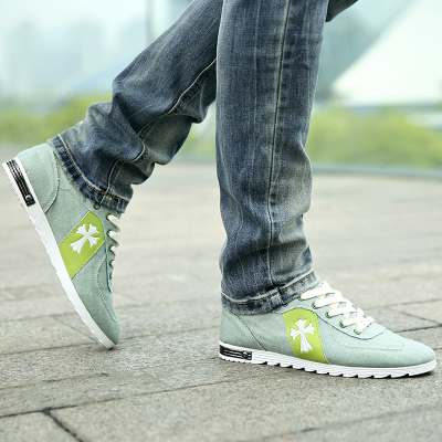 2014 autumn new men's casual shoes popular youth trends linen canvas shoes men's shoes breathable lazy shoes