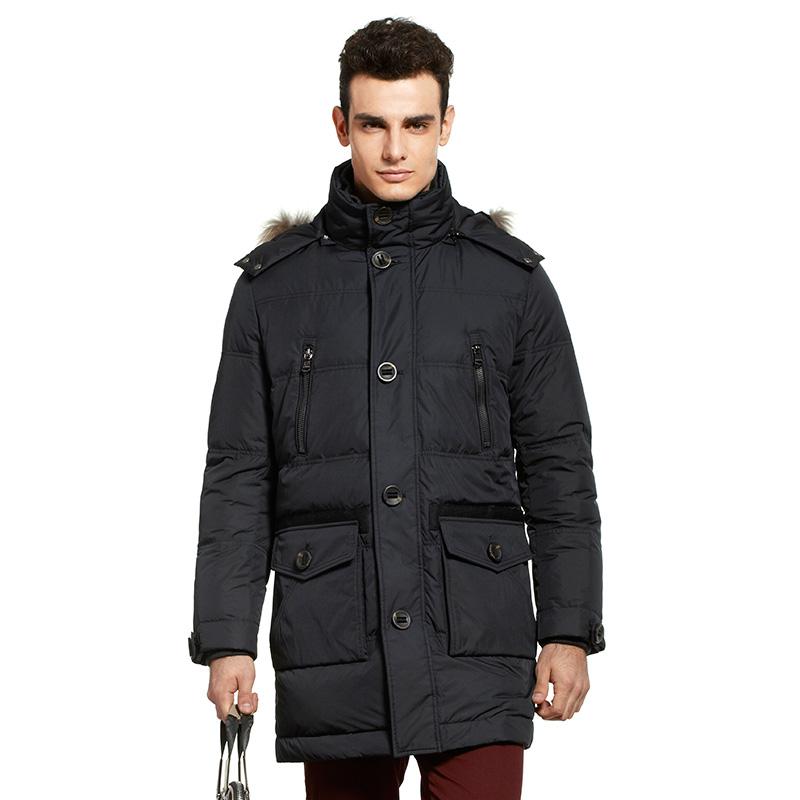 波司登可脱卸帽中长款羽绒服冬季男装加厚保暖直销正品B1301125