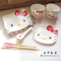 出口品 hello kitty14件套骨瓷餐具 (可微波) 24K金原装礼盒