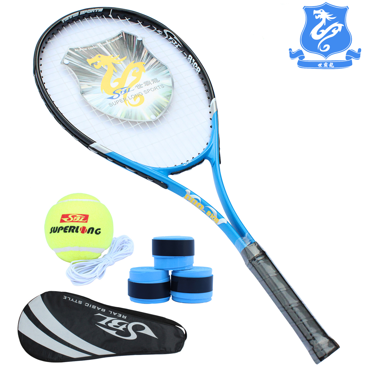 Taiwan with a genuine security balong lijian 8,108 beginners tennis rackets to tennis away with thread
