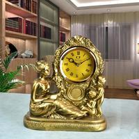 树脂工艺品摆件家居饰品 客厅装饰品母子座钟表电视柜创意摆饰
