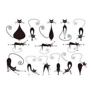 纹身贴纸 防水 女 明星同款新上市最流行小猫咪纹身贴图片