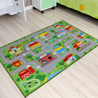 Jebsen children's room lane road game machine washable rug slip absorbent mats crawling mat