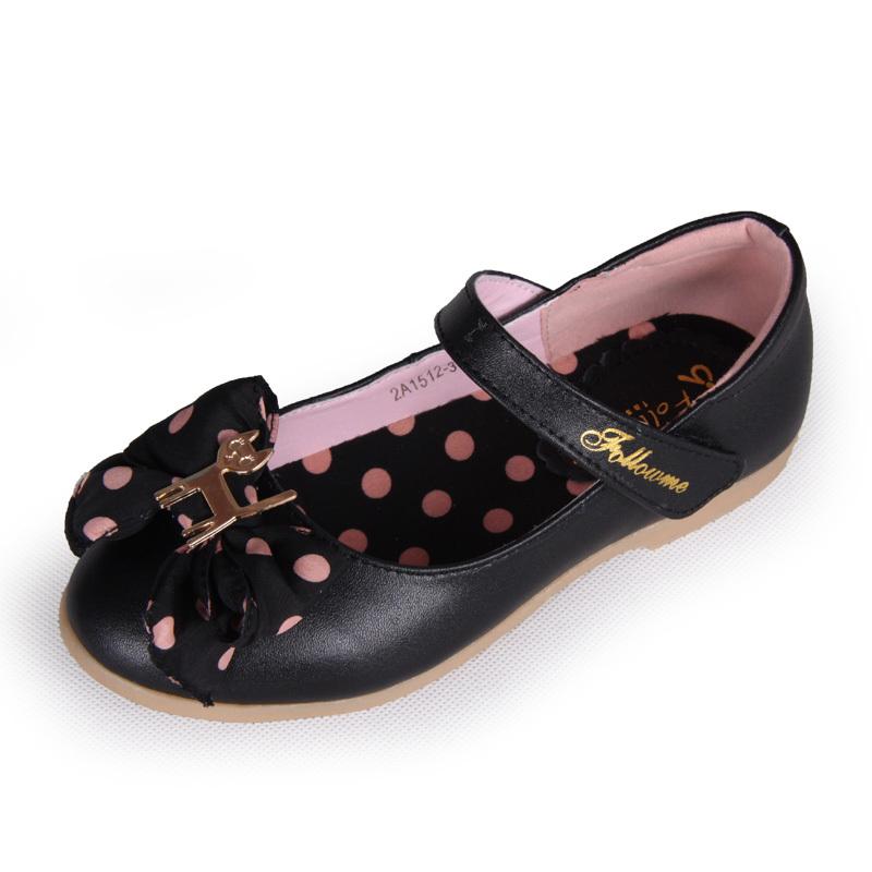 Детская кожаная обувь Follow me 2A2243 Девушки Кожа быка Липучка Комбинированная подошва Соединение разных видов кожи и кожезаменителя