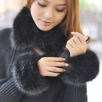Teenage House large fur imitation rabbit hair wool gloves leather wrist Cuff Bracelet wrist H001
