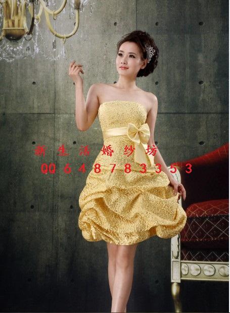 Вечернее платье 礼服 新娘礼服 伴娘服 敬酒服 演出服 短款礼服 超可爱 可定做