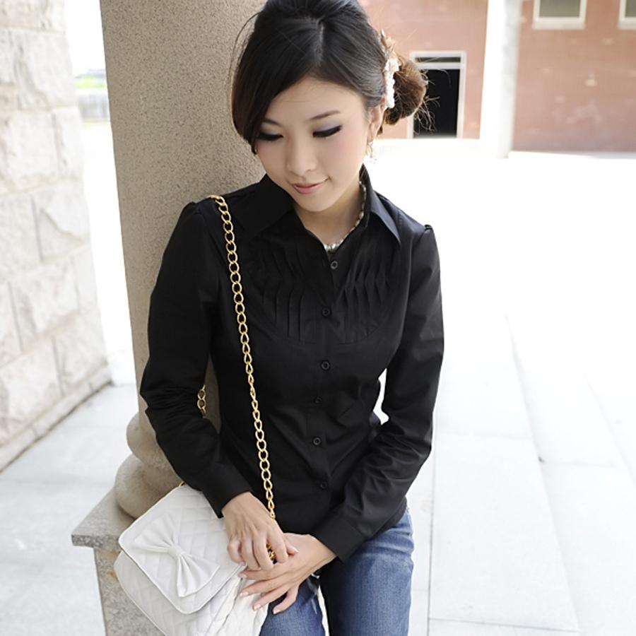 женская рубашка OTHER yy3487 2012 Повседневный Длинный рукав