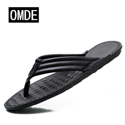 Special soft bottom soft leather slippers for men Casual sandals comfortable, breathable and lightweight drag male drag