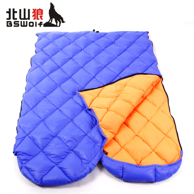 Envelope outdoor ultralight down sleeping bag camping adult duck down sleeping bag stitching long, wide special section