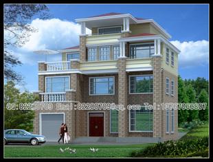 三层楼房外观效果图_农村房屋设计图三层外观效果图