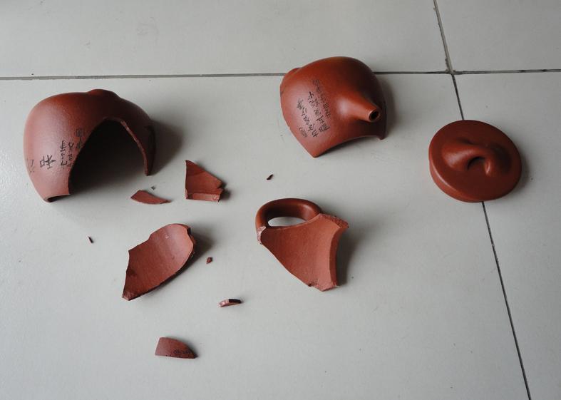 Сувенир Античный реставрации/керамики фарфора ремонт/исправление/ремонт/запеченная чайник бронза/покупатель ремонта