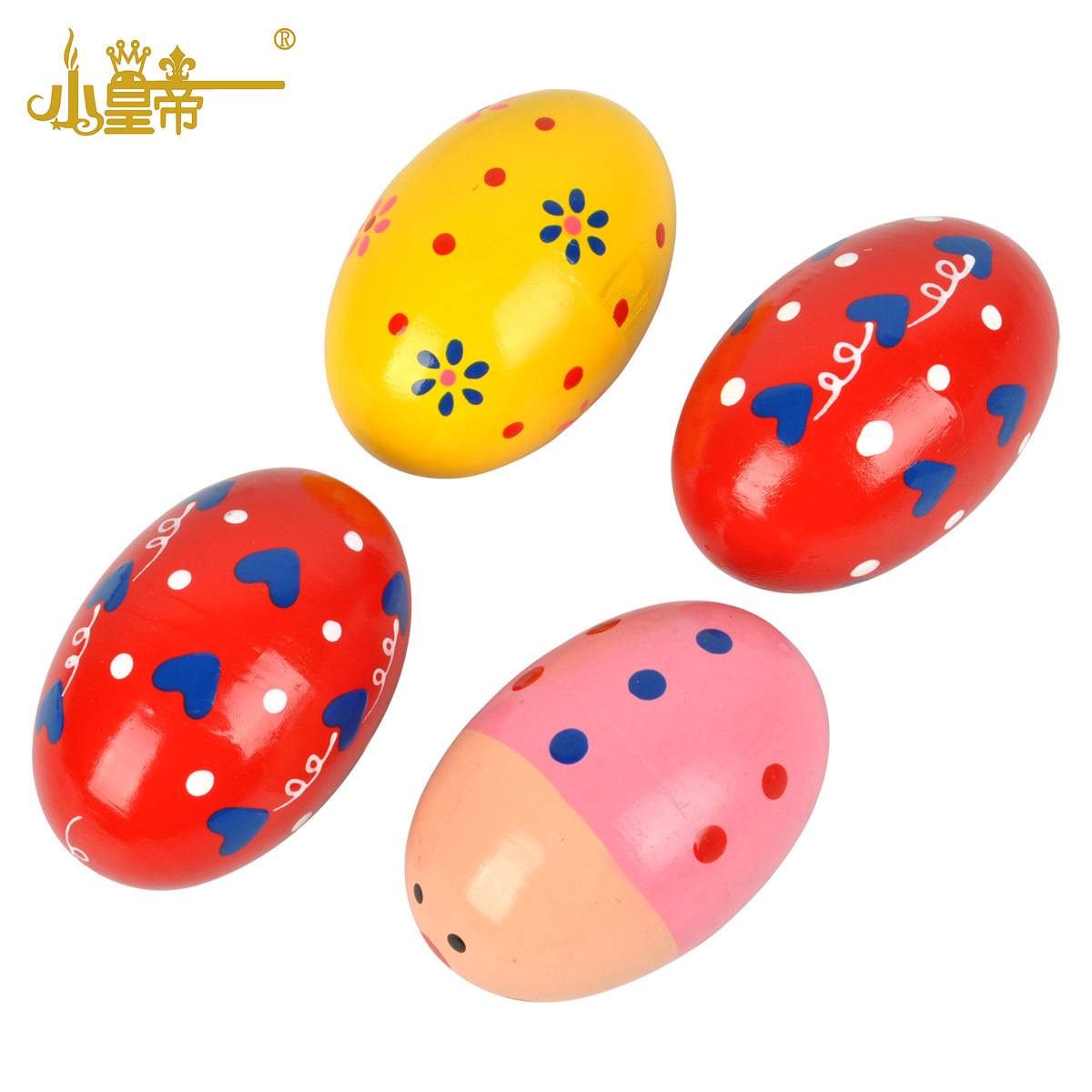 The Young Emperor Wood Color  Egg Early Childhood Ball Egg Baby Toys 0