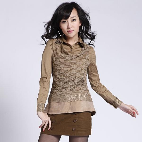 женская рубашка Other 228ha172/636a2183 OL 2012 HA Casual Длинный рукав Однотонный цвет