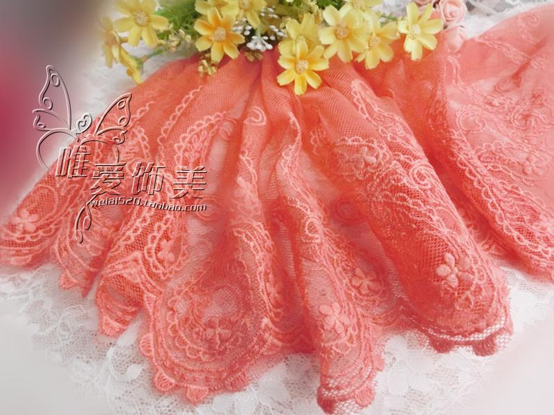 Wide lace mesh embroidery lace embroidery watermelon red soft gray diy accessories