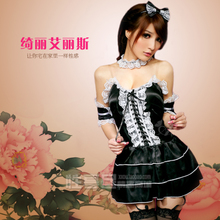 Anna Mu beautiful Alice! Sweet maid outfits Night club party serving role play fun